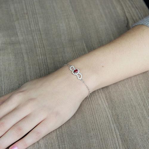 bracelet femme argent zirconium 9500201 pic4