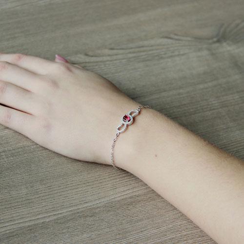 bracelet femme argent zirconium 9500201 pic5
