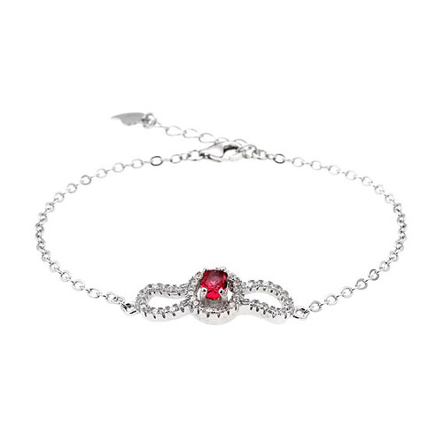 bracelet femme argent zirconium 9500201