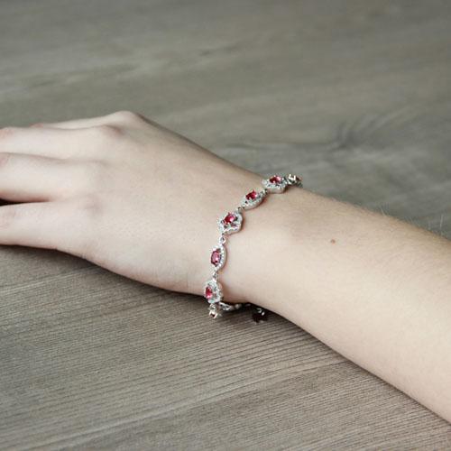 bracelet femme argent zirconium 9500203 pic5