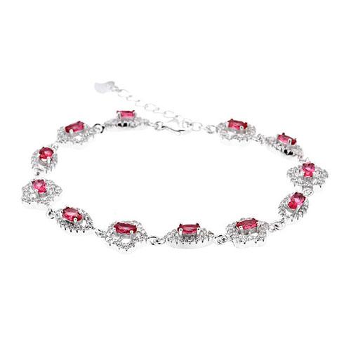 bracelet femme argent zirconium 9500203