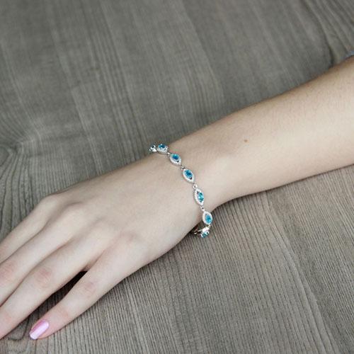 bracelet femme argent zirconium 9500204 pic4