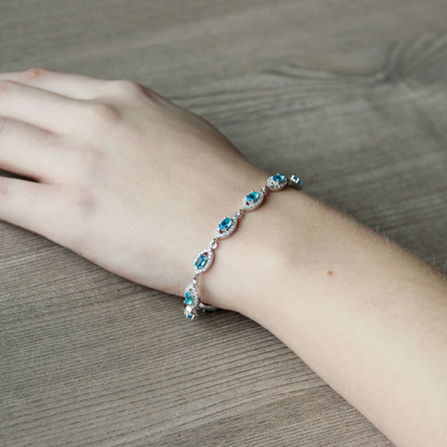 bracelet femme argent zirconium 9500204 pic5