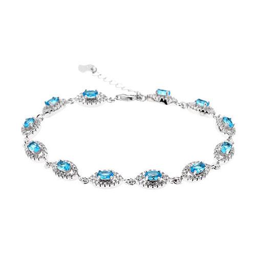 bracelet femme argent zirconium 9500204