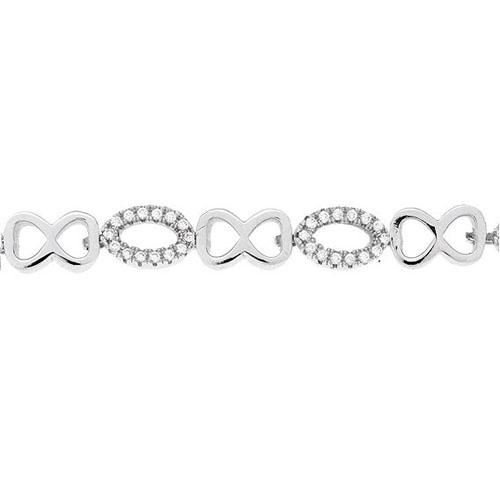 bracelet femme argent zirconium 9500205 pic2
