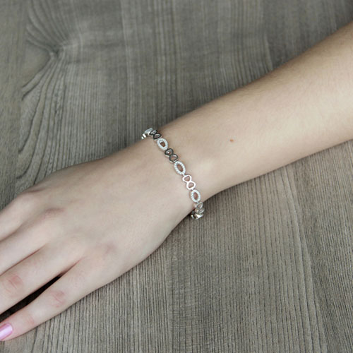 bracelet femme argent zirconium 9500205 pic4