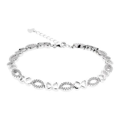 bracelet femme argent zirconium 9500205