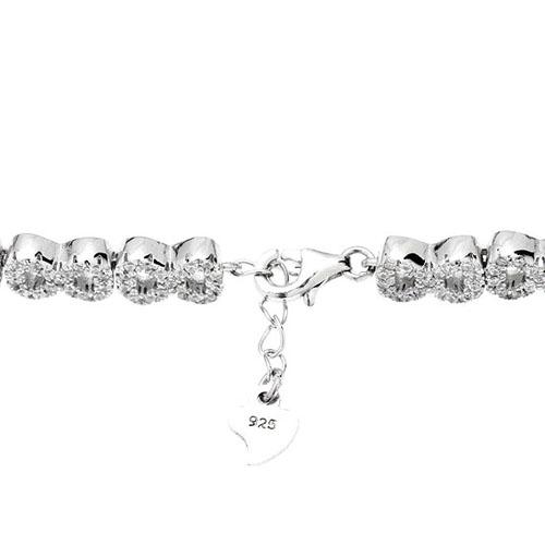 bracelet femme argent zirconium 9500206 pic3