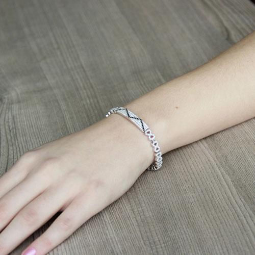 bracelet femme argent zirconium 9500206 pic4