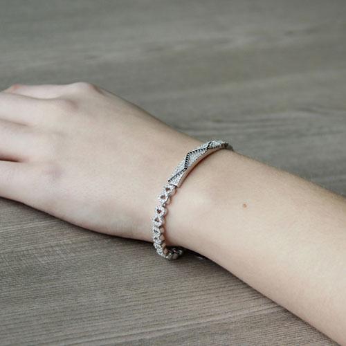 bracelet femme argent zirconium 9500206 pic5