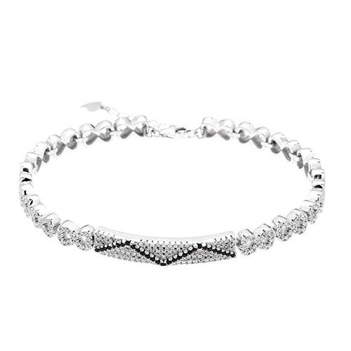 bracelet femme argent zirconium 9500206