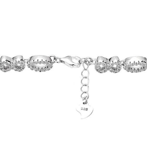 bracelet femme argent zirconium 9500207 pic3