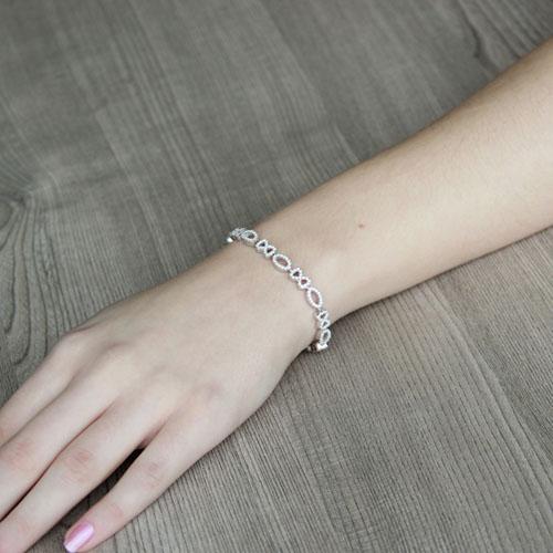 bracelet femme argent zirconium 9500207 pic4
