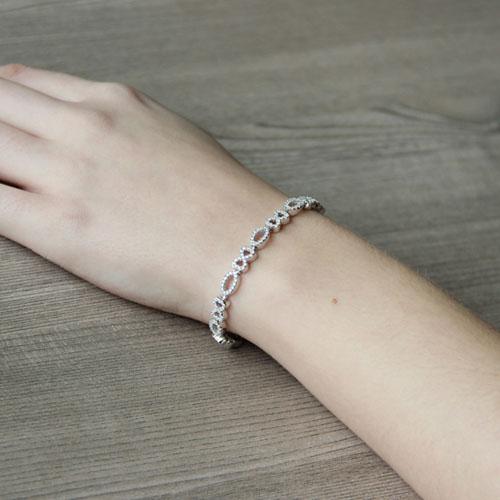 bracelet femme argent zirconium 9500207 pic5