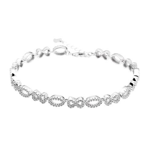 bracelet femme argent zirconium 9500207