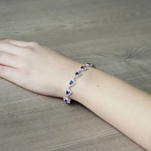 bracelet femme argent zirconium 9500208 pic5