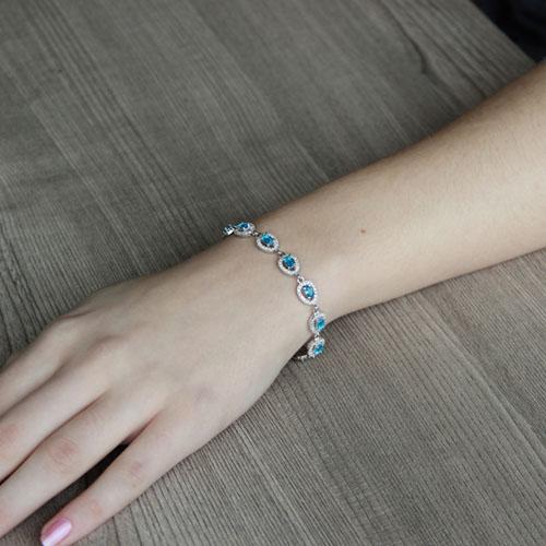 bracelet femme argent zirconium 9500210 pic4