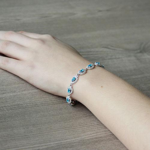 bracelet femme argent zirconium 9500210 pic5