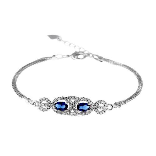 bracelet femme argent zirconium 9500212