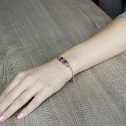 bracelet femme argent zirconium 9500214 pic4