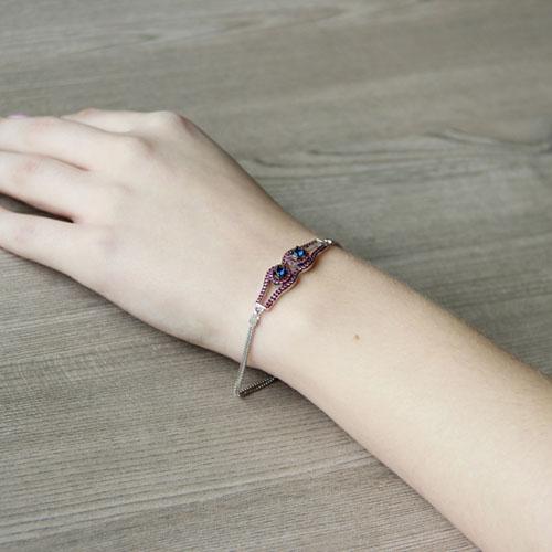bracelet femme argent zirconium 9500214 pic5
