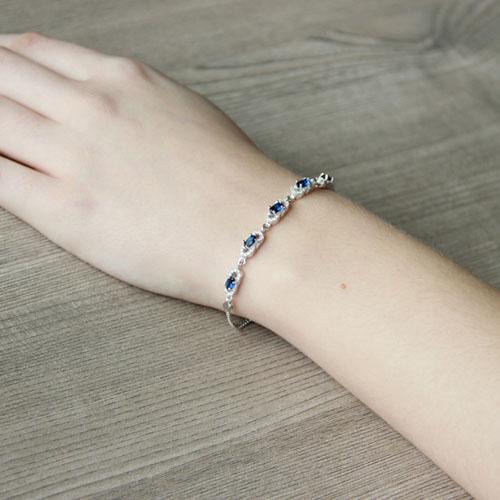bracelet femme argent zirconium 9500215 pic5