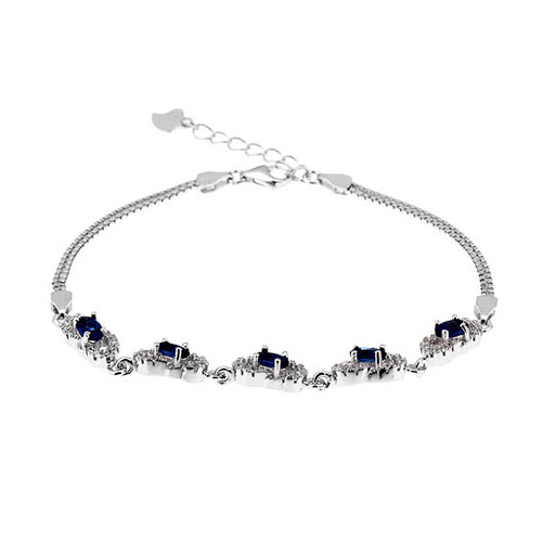 bracelet femme argent zirconium 9500215