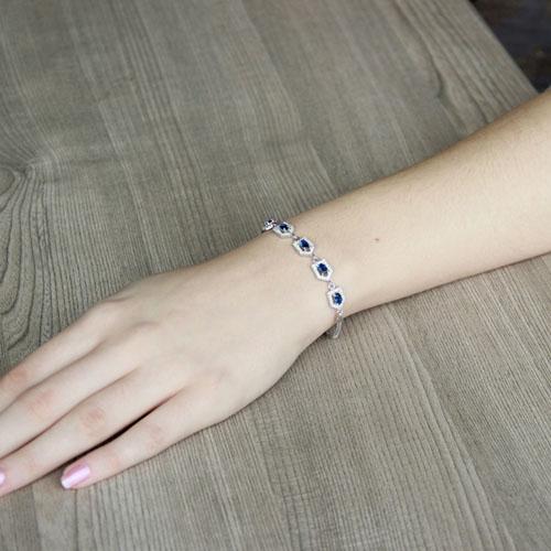bracelet femme argent zirconium 9500216 pic4