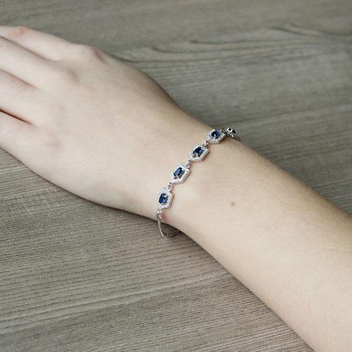 bracelet femme argent zirconium 9500216 pic5
