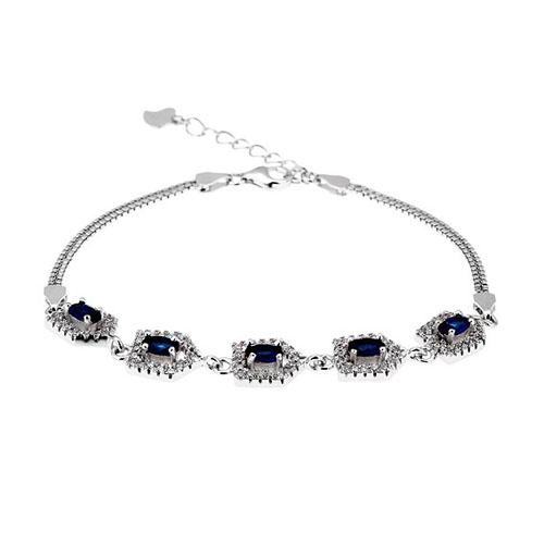 bracelet femme argent zirconium 9500216