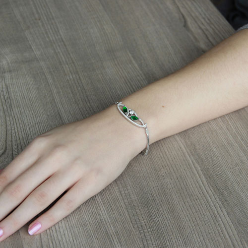 bracelet femme argent zirconium 9500217 pic4