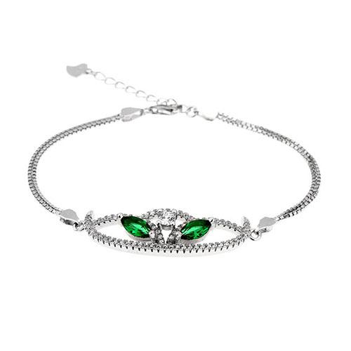 bracelet femme argent zirconium 9500217