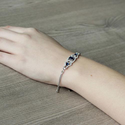 bracelet femme argent zirconium 9500218 pic5