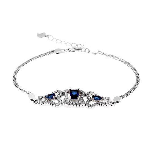 bracelet femme argent zirconium 9500218