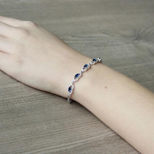 bracelet femme argent zirconium 9500220 pic5