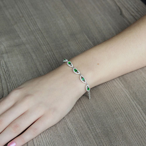 bracelet femme argent zirconium 9500221 pic4