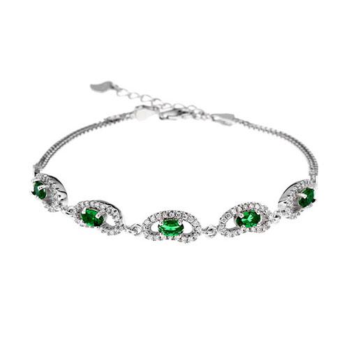 bracelet femme argent zirconium 9500221