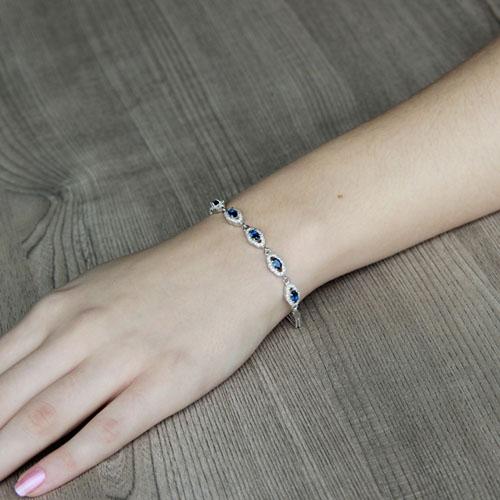 bracelet femme argent zirconium 9500222 pic4