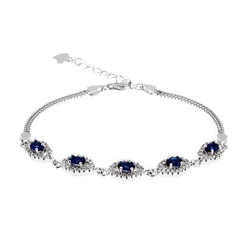 bracelet femme argent zirconium 9500222