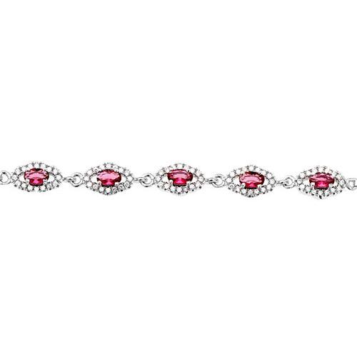 bracelet femme argent zirconium 9500223 pic2
