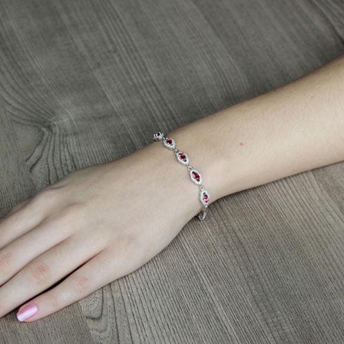 bracelet femme argent zirconium 9500223 pic4