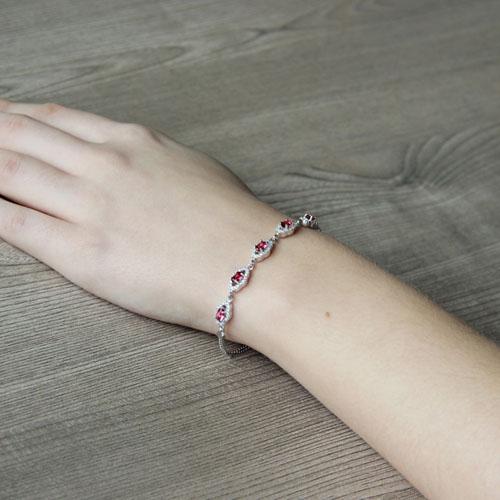 bracelet femme argent zirconium 9500223 pic5