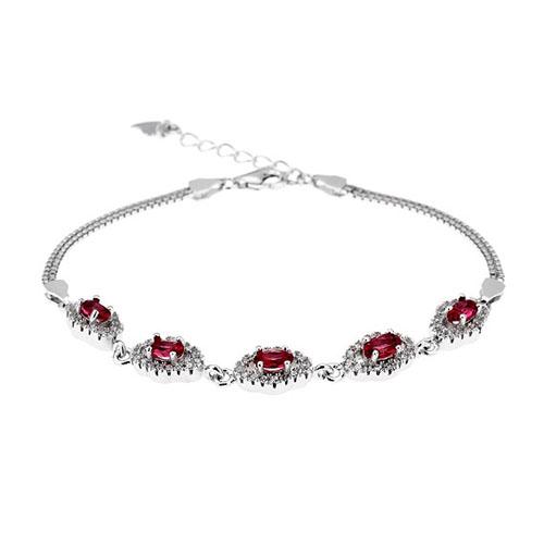 bracelet femme argent zirconium 9500223