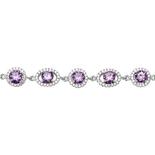 bracelet femme argent zirconium 9500224 pic2