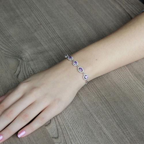 bracelet femme argent zirconium 9500224 pic4