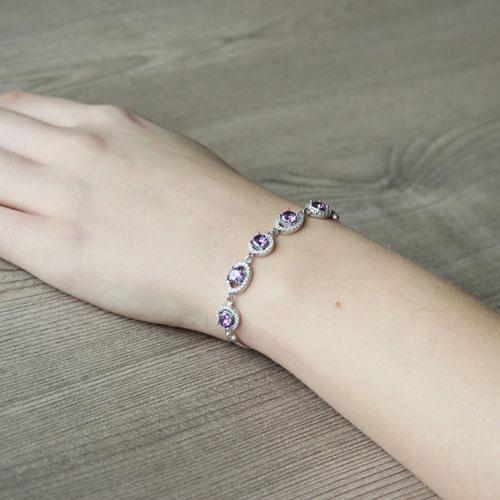 bracelet femme argent zirconium 9500224 pic5