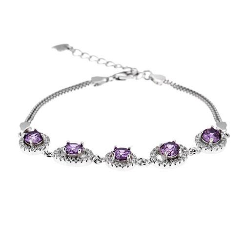 bracelet femme argent zirconium 9500224