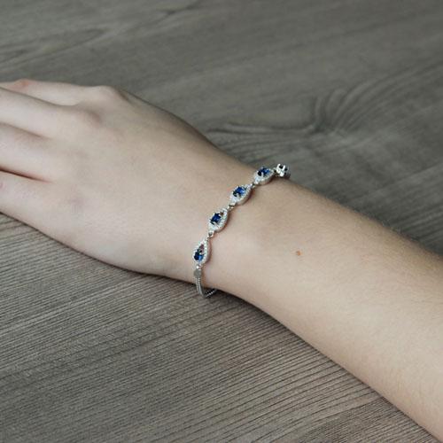 bracelet femme argent zirconium 9500225 pic5