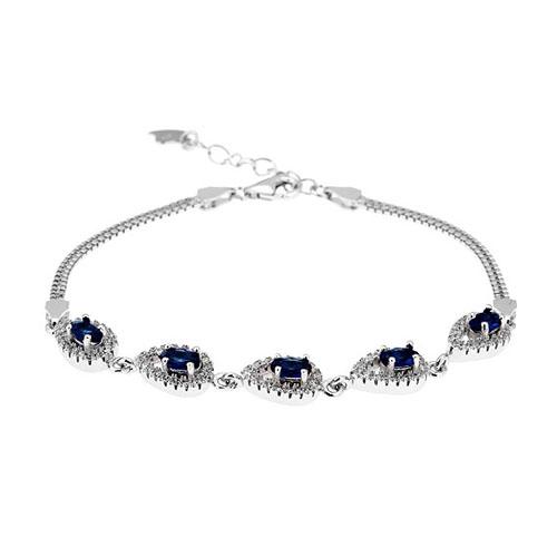 bracelet femme argent zirconium 9500225