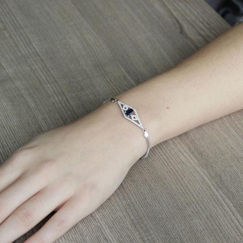 bracelet femme argent zirconium 9500228 pic4